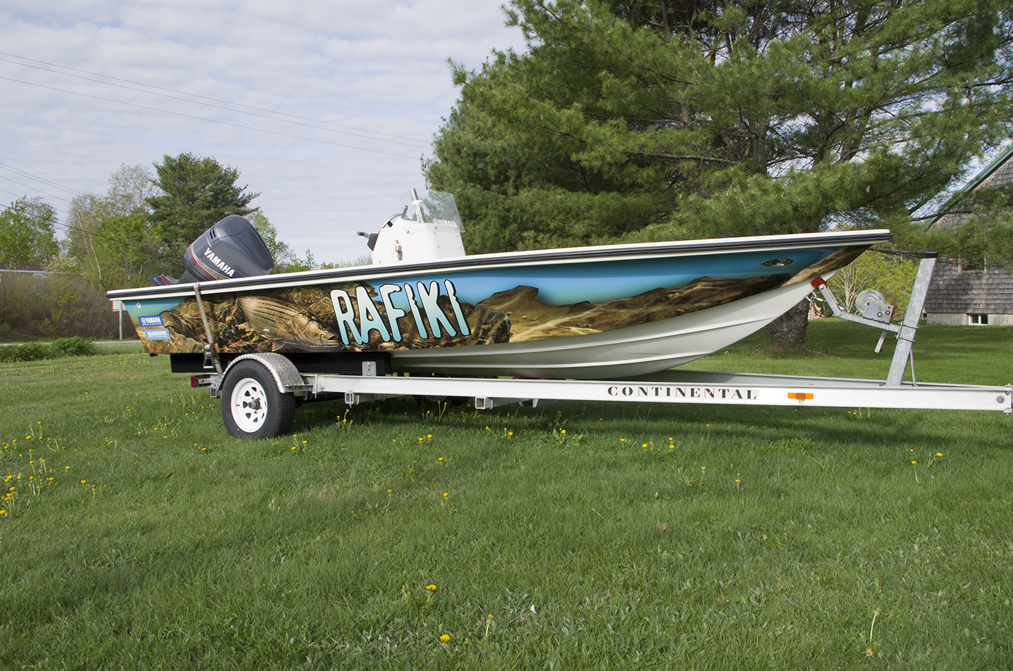 The boats of catch 22 for Fishing boat wraps